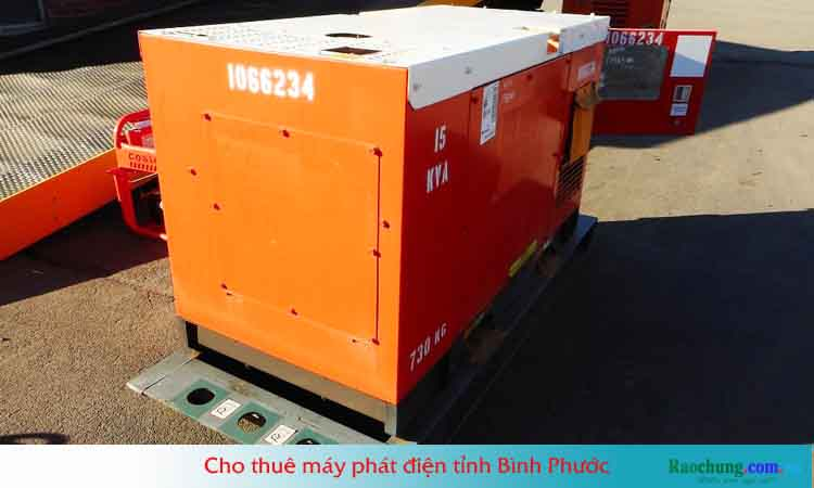 Cho thuê máy phát điện tỉnh Bình Phước