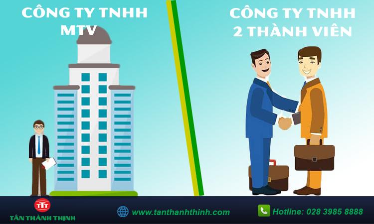 So sánh công ty tnhh 1 thành viên và 2 thành viên