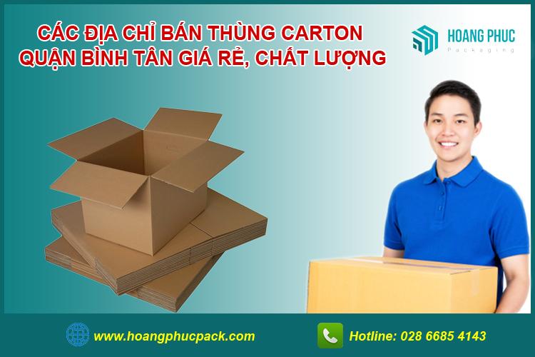 Bán thùng carton Quận Bình Tân