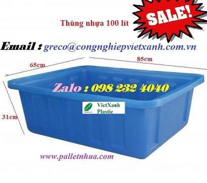 Thùng nhựa dung tích 100 lít (K100)