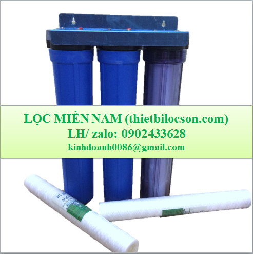 Cốc lọc nhựa 20 inch trong suốt, xanh lọc lưu lượng nước lớn