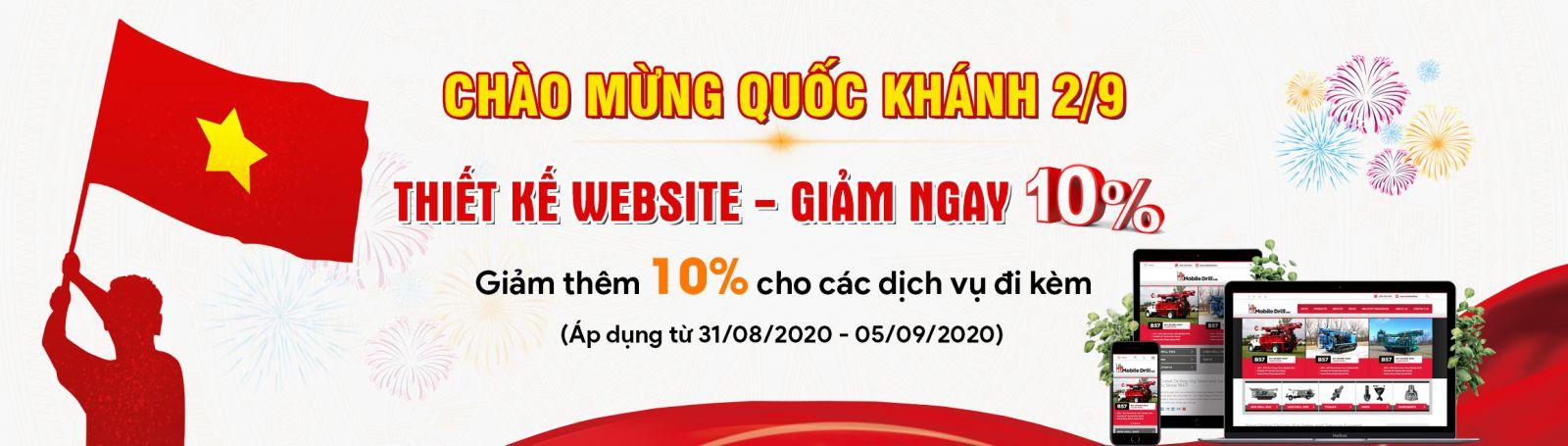 KHUYẾN MẠI 2/9 - Giảm giá 10% dịch vụ Website